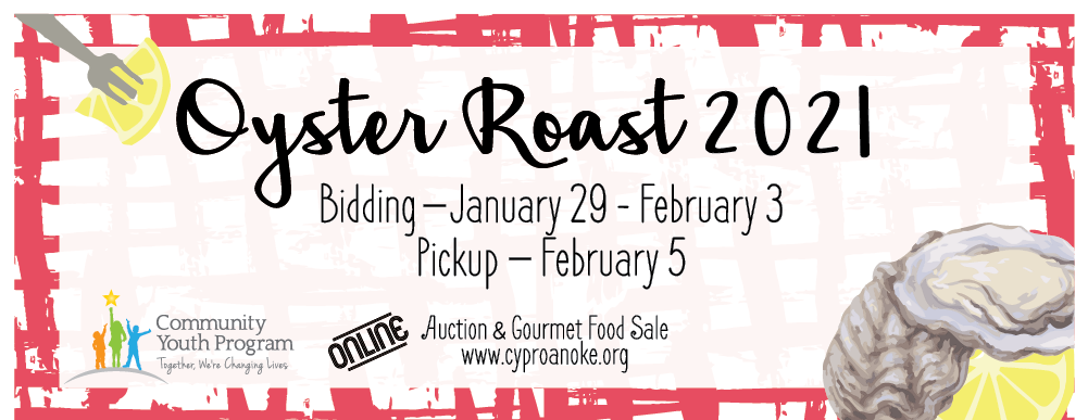 Community Youth Program Virtual Oyster Roast Auction & Gourmet Food Sale